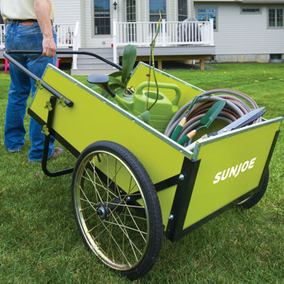 Sun Joe 7 Cubic Foot Heavy Duty Garden + Utility Cart