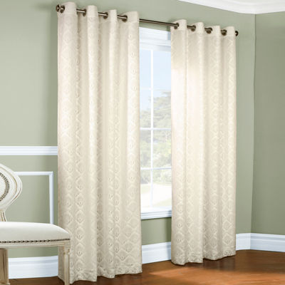 Anna Thermalace Grommet-Top Curtain Panel