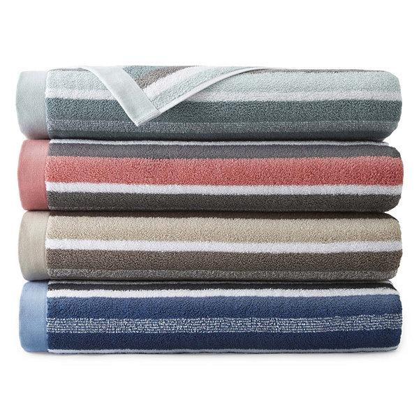 JCPenney Home™ Generous Stripe Bath Towel - JCPenney