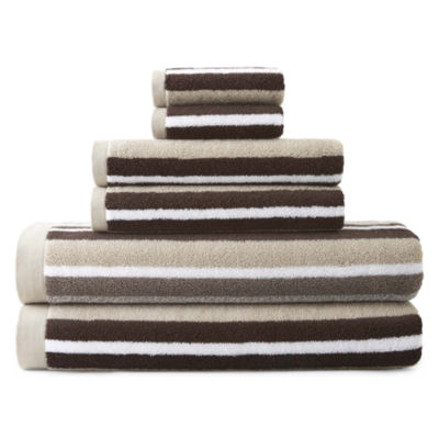 JCPenney Home™ Generous Stripe 6-pc. Towel Set