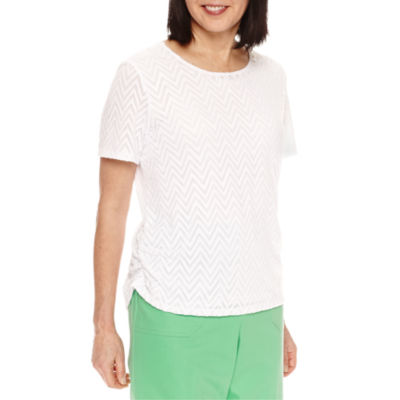 Alfred Dunner Bahama Bays Short Sleeve Lace T-Shirt
