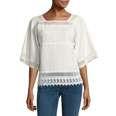 a.n.a Lace Flutter Sleeve Blouse