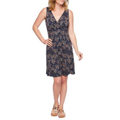 St. John's Bay Sleeveless Hearts A-Line Dress