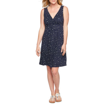 St. John's Bay Sleeveless Star A-Line Dress