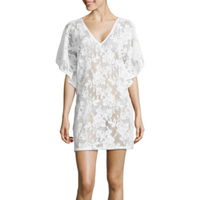 Wearabouts Floral Crochet Swimsuit Cover-Up Dress
