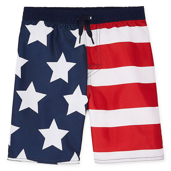 Okie Dokie Americana Swim Trunk-Toddler Boys