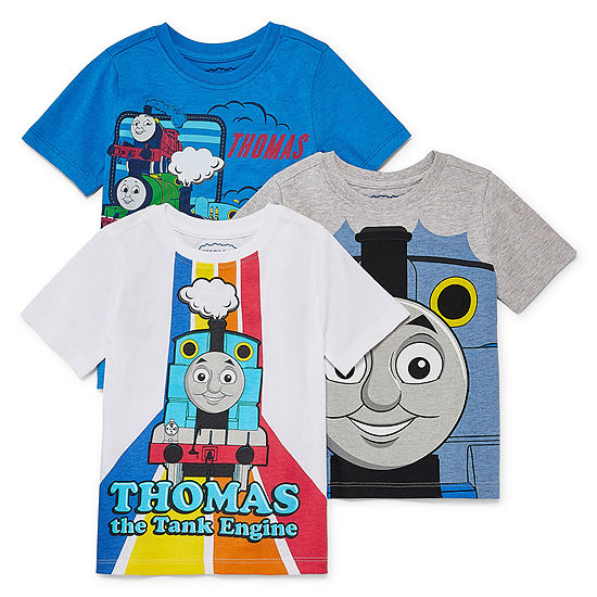 Boys Crew Neck Short Sleeve Thomas and Friends Graphic T-Shirt-Toddler