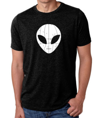 Los Angeles Pop Art Men's Premium Blend Word Art T-shirt - I Come In Peace
