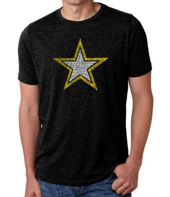 Los Angeles Pop Art Men's Premium Blend Word Art T-shirt - Lyrics To The Army Song