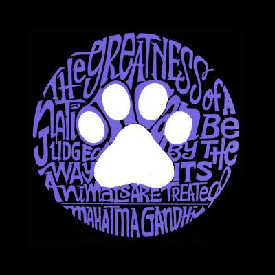 Los Angeles Pop Art Men's Premium Blend Word Art T-shirt - Gandhi's Quote On Animal Treatment