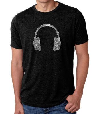 Los Angeles Pop Art Men's Premium Blend Word Art T-shirt - 63 Different Genres Of Music