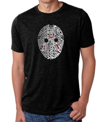 Los Angeles Pop Art Men's Premium Blend Word Art T-shirt - Slasher Movie Villians