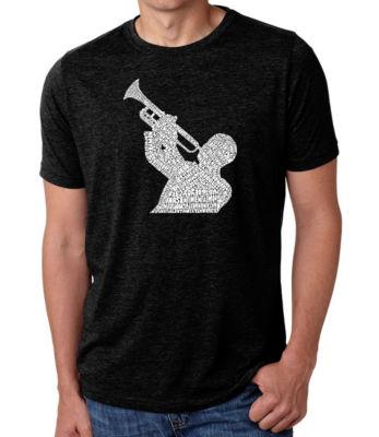 Los Angeles Pop Art Men's Premium Blend Word Art T-shirt - All Time Jazz Songs