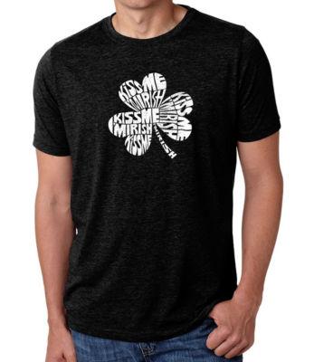 Los Angeles Pop Art Men's Premium Blend Word Art T-shirt - Kiss Me I'm Irish