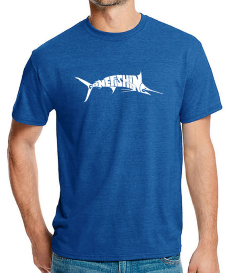 Los Angeles Pop Art Men's Premium Blend Word Art T-shirt - Marlin - Gone Fishing