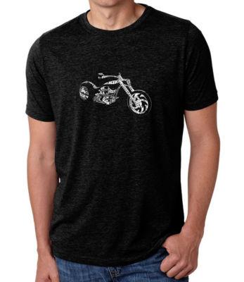 Los Angeles Pop Art Men's Premium Blend Word Art T-shirt - Motorcycle