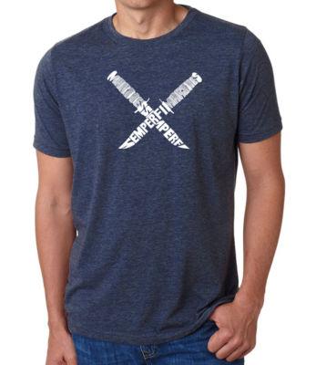 Los Angeles Pop Art Men's Premium Blend Word Art T-shirt - Semper Fi