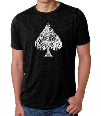 Los Angeles Pop Art Men's Premium Blend Word Art T-shirt - Order Of Winning Poker Hands