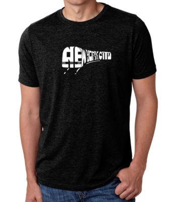 Los Angeles Pop Art Men's Premium Blend Word Art T-shirt - Ny Subway