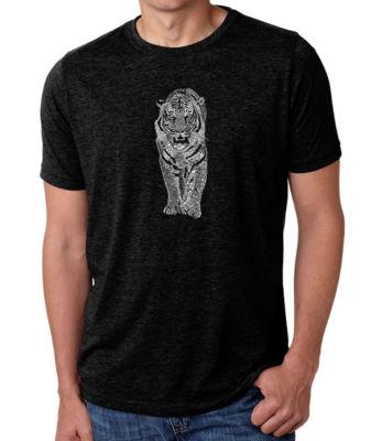 Los Angeles Pop Art Men's Premium Blend Word Art T-shirt - Tiger