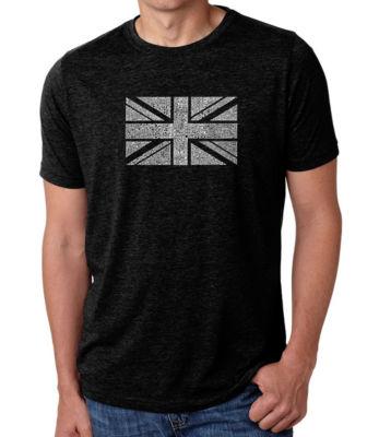 Los Angeles Pop Art Men's Premium Blend Word Art T-shirt - Union Jack