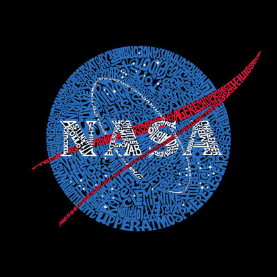 Los Angeles Pop Art Women's Word Art Tank Top - NASA's Most Notable Missions