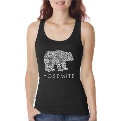Los Angeles Pop Art Women's Word Art Tank Top - Yosemite Bear