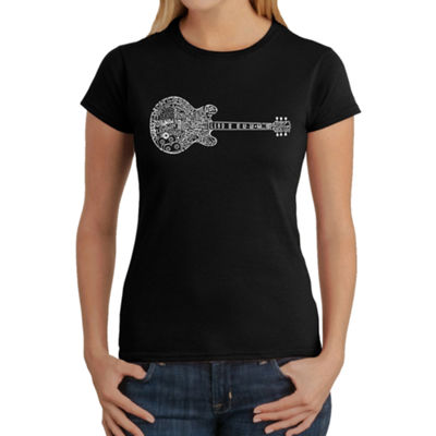 Los Angeles Pop Art Women's Word Art T-Shirt - Blues Legends
