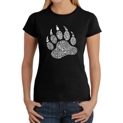 Los Angeles Pop Art Women's Word Art T-Shirt - Types of Bears