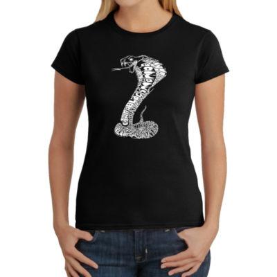 Los Angeles Pop Art Women's Word Art T-Shirt - Tyles of Snakes