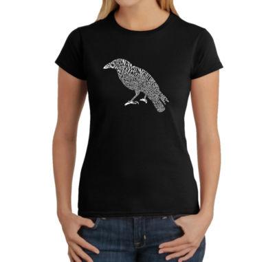 Los Angeles Pop Art Women's Word Art T-Shirt - Edgar Allen Poe's The Raven
