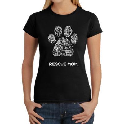 Los Angeles Pop Art Women's Word Art T-Shirt - Resue Mom