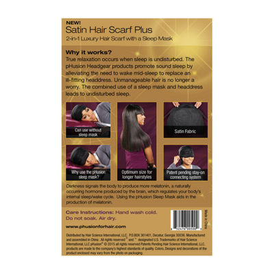 Phusion Luxury Hair Scarf Plus Black Mc Hair Wrap