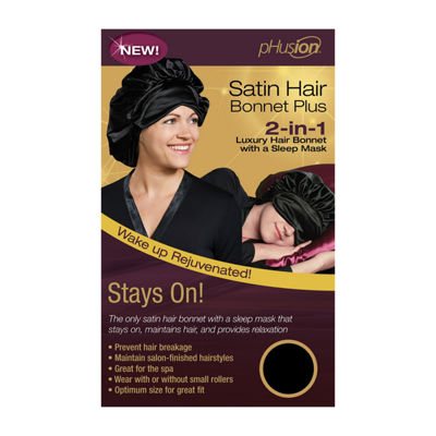 Phusion Luxury Hair Bonnet Plus Black Gm Hair Wrap