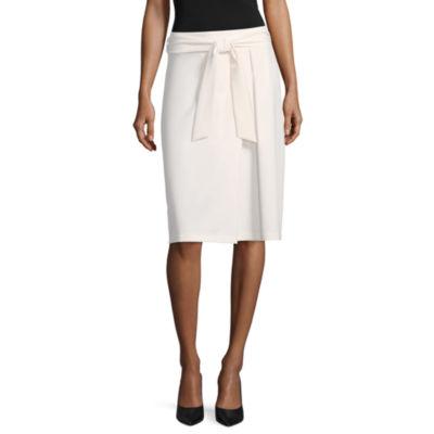 "Worthington Tie Envelope Skirt - Tall 27"""