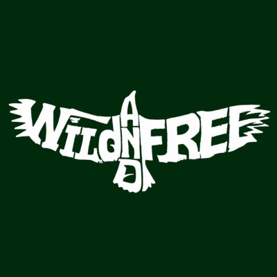 Los Angeles Pop Art Men's Premium Blend Word Art T-shirt - Wild And Free Eagle