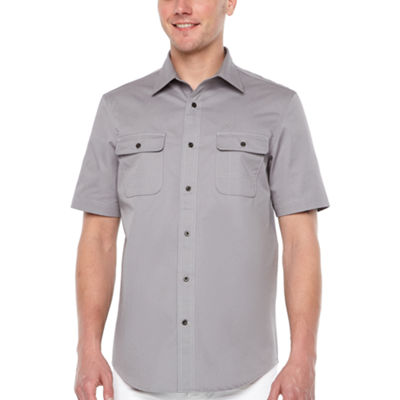 Big Mac Short Sleeve Button-Front Shirt-Big and Tall
