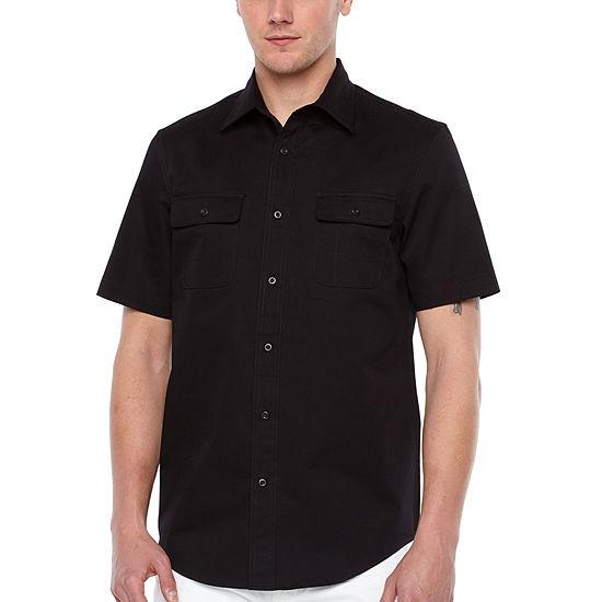 Big Mac Mens Short Sleeve Moisture Wicking Button-Front Shirt