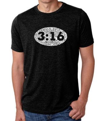 Los Angeles Pop Art Men's Big & Tall Premium BlendWord Art T-shirt - John 3:16