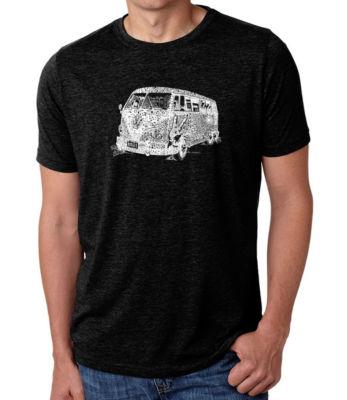 Los Angeles Pop Art Men's Big & Tall Premium Blend Word Art T-Shirt - The 70's