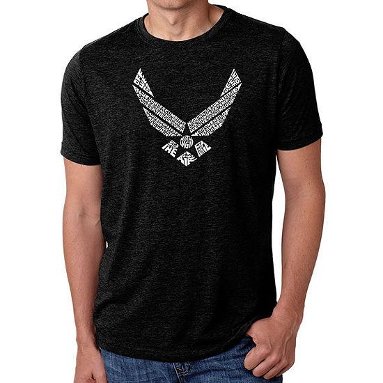 Los Angeles Pop Art Men's Big & Tall Premium Blend Word Art T-Shirt - Lyrics To The Air Force Song