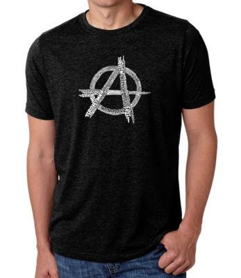 Los Angeles Pop Art Men's Big & Tall Premium Blend Word Art T-Shirt - Great All Time Punk Songs