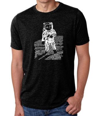 Los Angeles Pop Art Men's Big & Tall Premium Blend Word Art T-Shirt - Astronaut