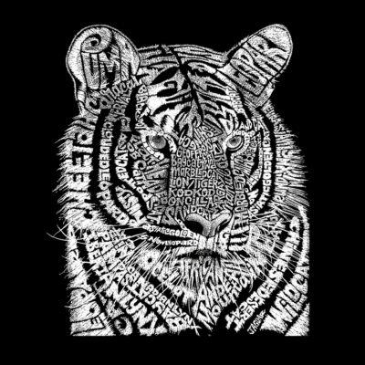 Los Angeles Pop Art Men's Big & Tall Premium Blend Word Art T-Shirt - Big Cats
