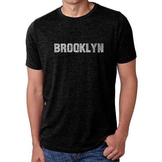 Los Angeles Pop Art Mens Big Tall Premium Blend Word Art T Shirt Brooklyn Neighborhoods