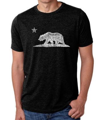 Los Angeles Pop Art Men's Big & Tall Premium Blend Word Art T-Shirt - California Bear