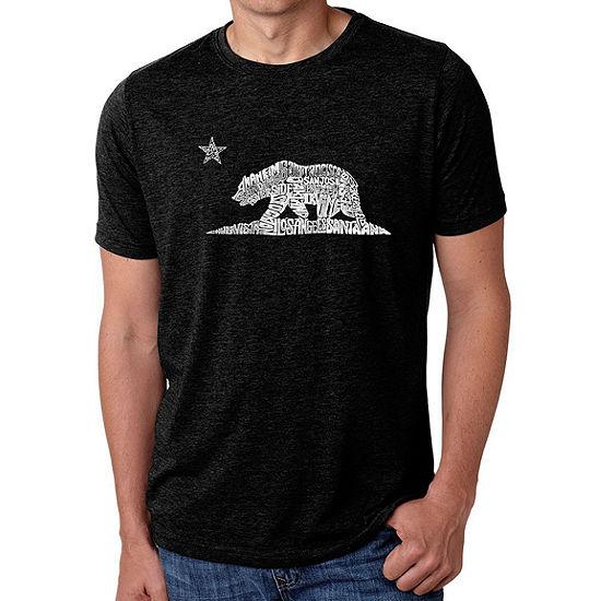 Los Angeles Pop Art Mens Big Tall Premium Blend Word Art T Shirt California Bear