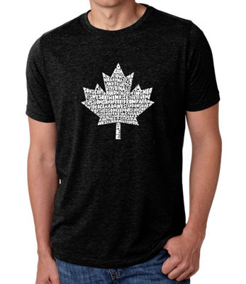 Los Angeles Pop Art Men's Big & Tall Premium Blend Word Art T-Shirt - Canadian National Anthem