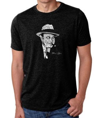 Los Angeles Pop Art Men's Big & Tall Premium Blend Word Art T-Shirt - Al Capone-Original Gangster