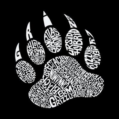 Los Angeles Pop Art Men's Big & Tall Premium Blend Word Art T-Shirt - Types of Bears